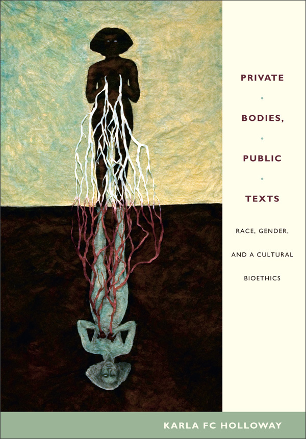 Book jacket: Private Bodies, Public Texts