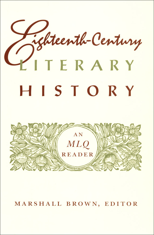 Eighteenth-Century Literary History