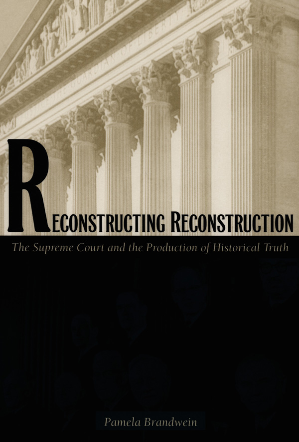 Reconstructing Reconstruction