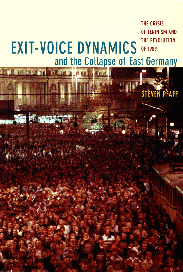 Exit-Voice Dynamics and the Collapse of East Germany