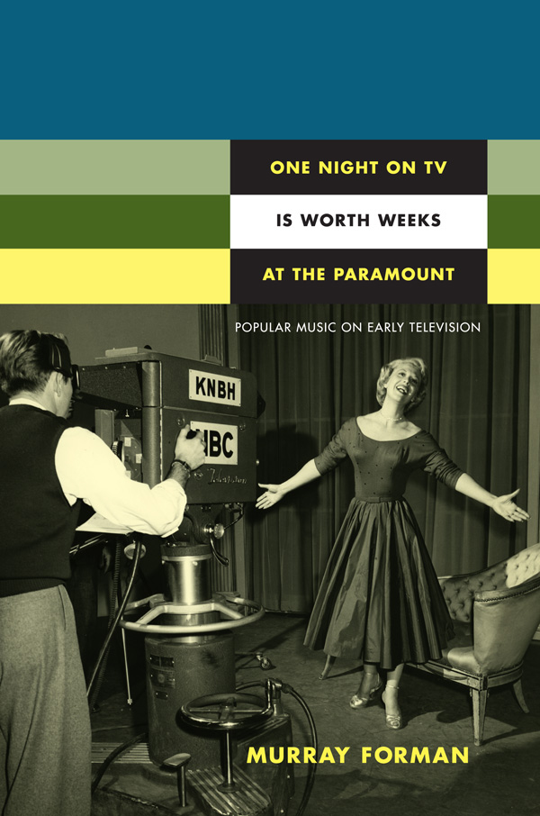 One Night on TV Is Worth Weeks at the Paramount