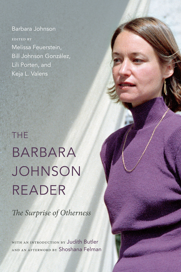 The Barbara Johnson Reader