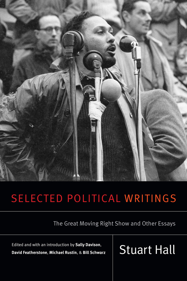 Cover of Selected Political Writings by Stuart Hall