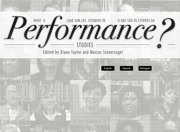 What Is Performance Studies?