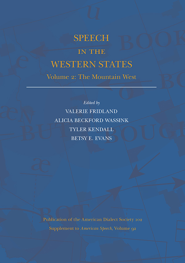 Speech in the Western States Volume 2925