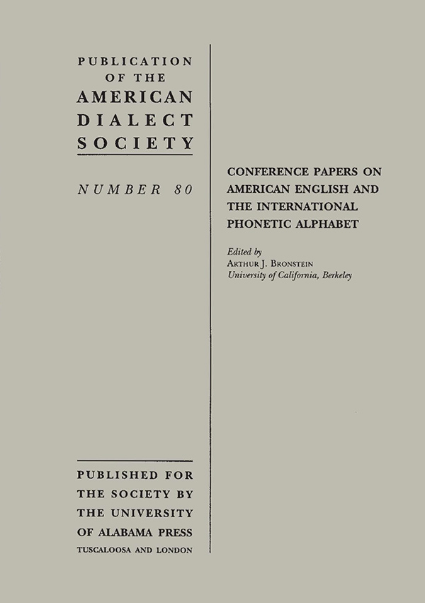 Conference Papers on American English and the International Phonetic Alphabet735
