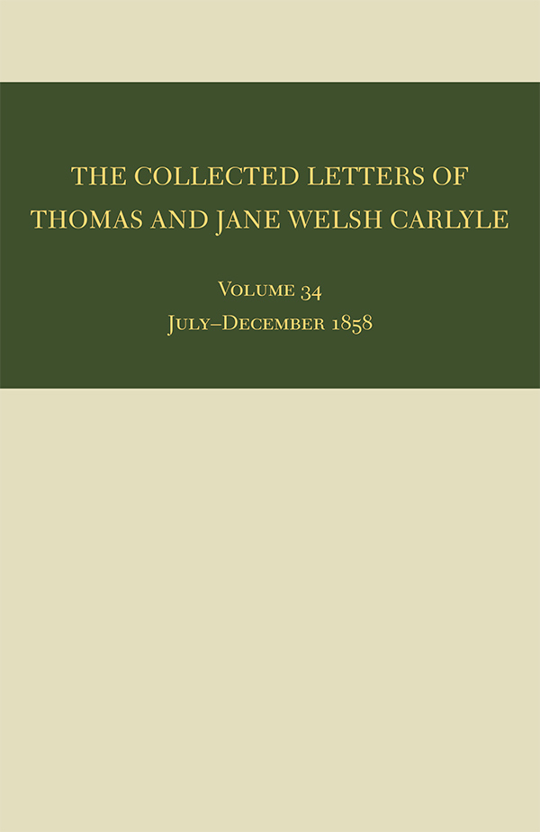 The Collected Letters of Thomas and Jane Welsh Carlyle341