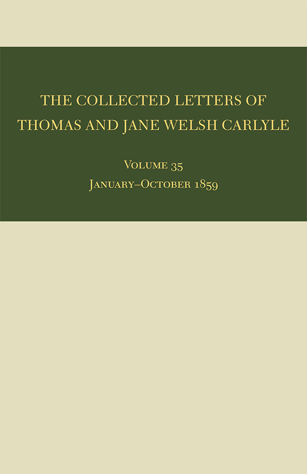The Collected Letters of Thomas and Jane Welsh Carlyle351
