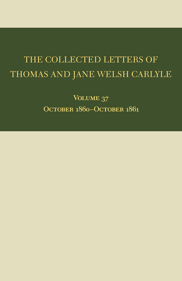 The Collected Letters of Thomas and Jane Welsh Carlyle371