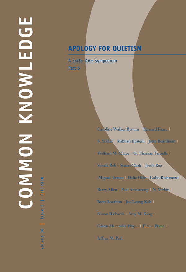 Apology for Quietism, Part 6