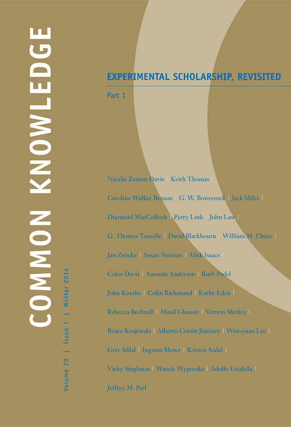 Experimental Scholarship, Revisited201