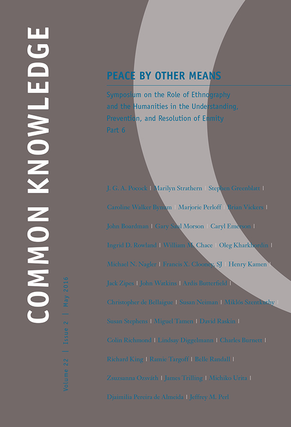 Peace by Other Means: Symposium on the Role of Ethnography and the Humanities in the Understanding, Prevention, and Resolution of Enmity Part 6222