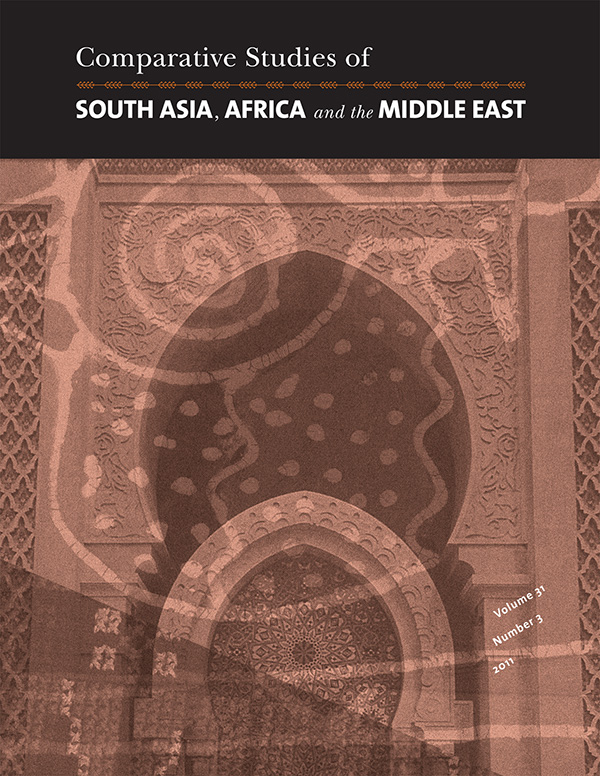 Comparative Studies of South Asia, Africa and the Middle East 31:3313