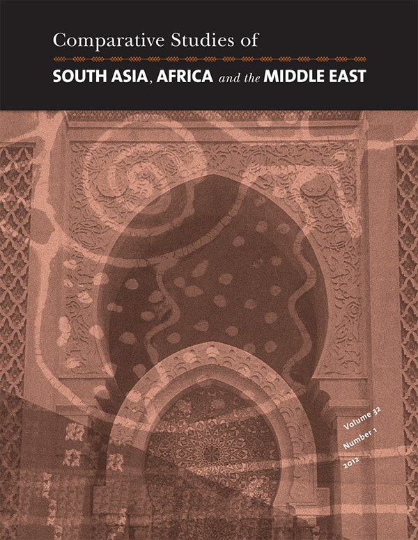 Comparative Studies of South Asia, Africa and the Middle East 32:1321