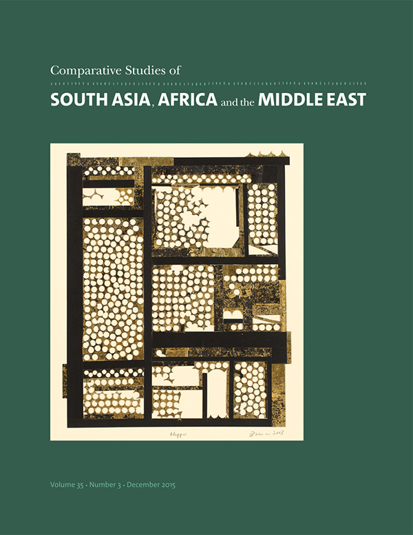 Comparative Studies of South Asia, Africa and the Middle East 35:3353