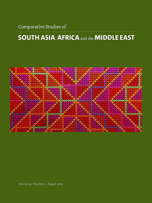 Comparative Studies of South Asia, Africa and the Middle East 39:2
