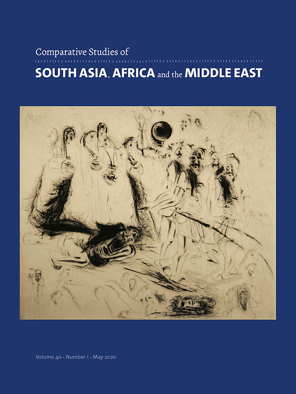 Comparative Studies of South Asia, Africa and the Middle East 40:1
