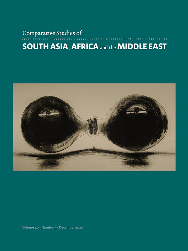 Comparative Studies of South Asia, Africa and the Middle East 40:3