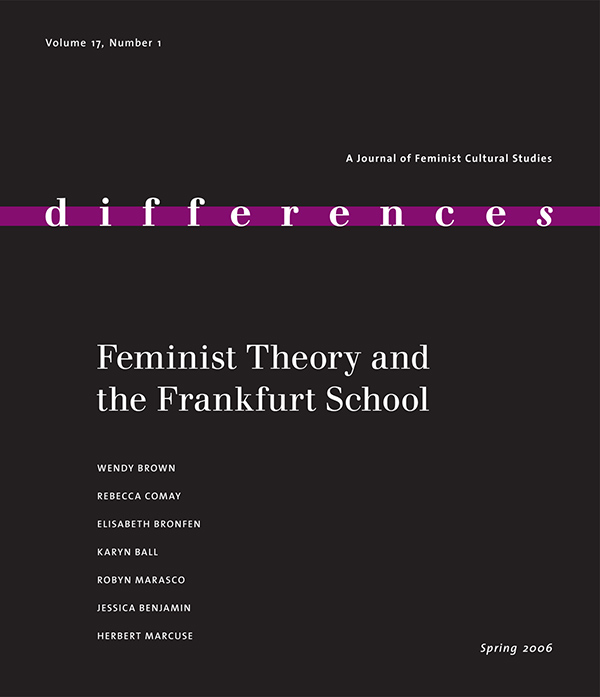 Feminist Theory and the Frankfurt School171