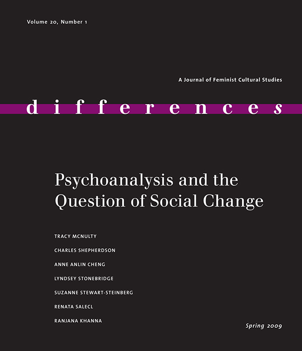 Psychoanalysis and the Question on Social Change201
