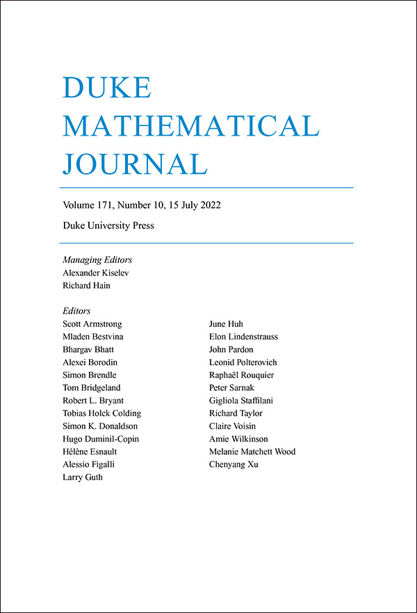 Duke Mathematical Journal - Featured Journals