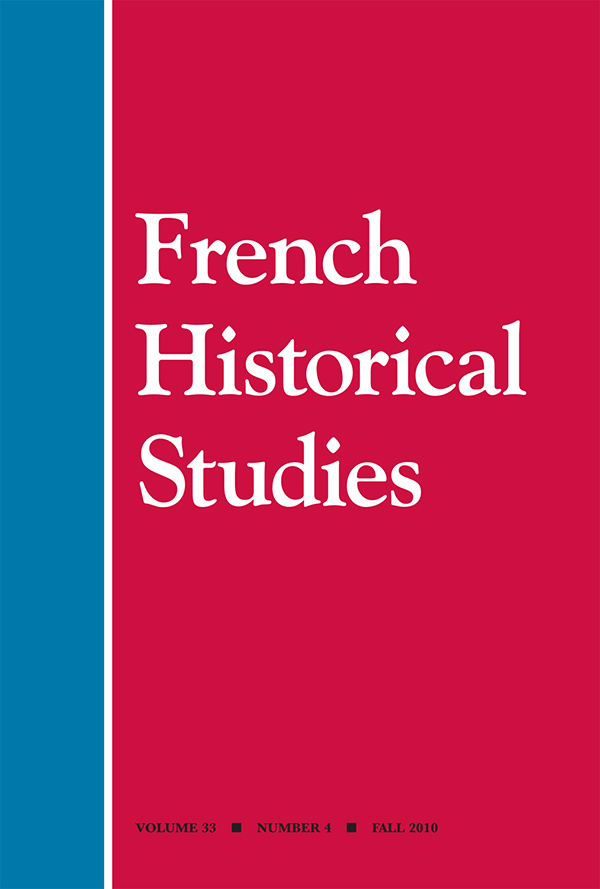 French Historical Studies 33:4