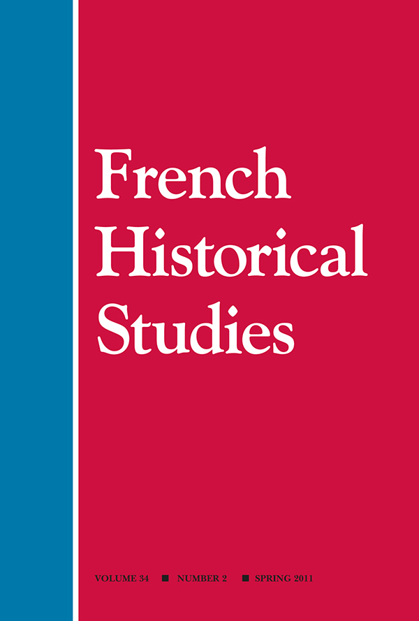 French Historical Studies 34:2
