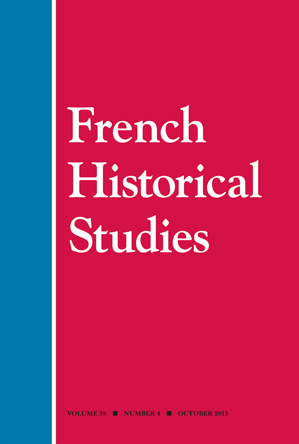 FORUM: Self, Family, Religion, and Society:  New Directions in L'Histoire Moderne in France384