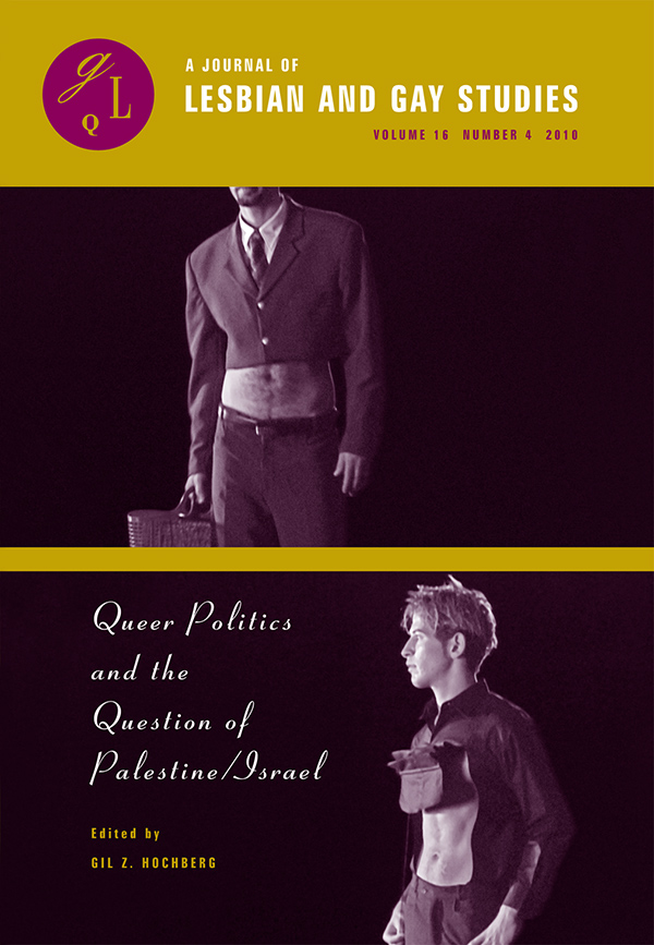 Queer Politics and the Question of Palestine⁄Israel164