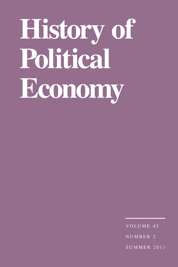 "A Celebration of Forty Years of ""History of Political Economy"" and the Editorship of Craufurd Goodwin"