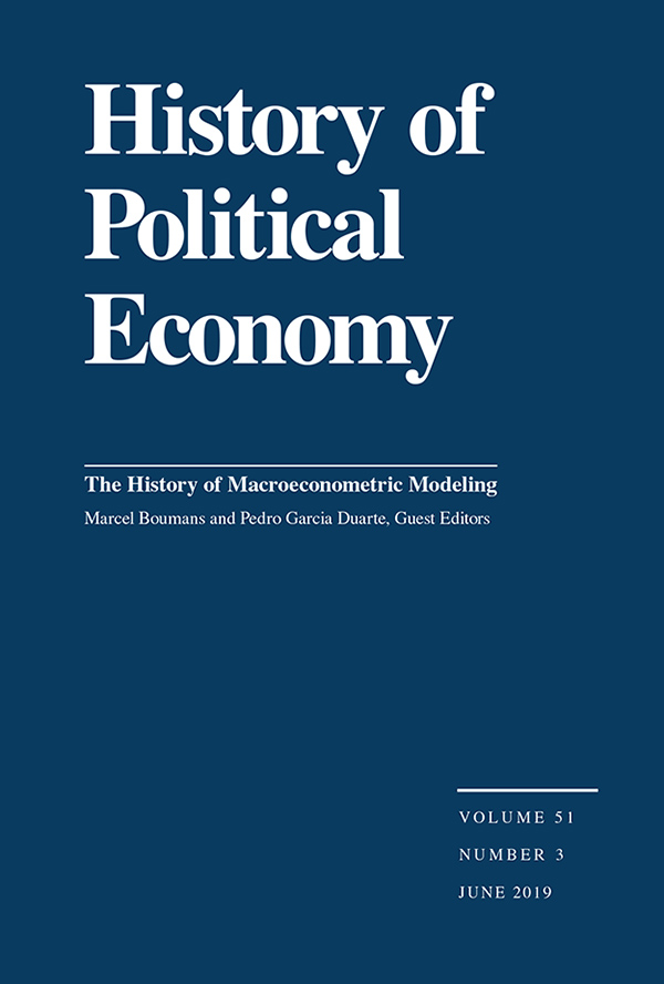 The History of Macroeconometric Modeling