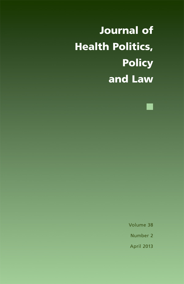 Journal of Health Politics, Policy and Law 38:2382