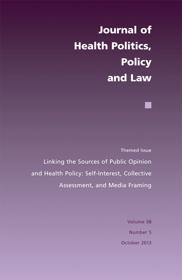 Linking the Sources of Public Opinion and Health Policy