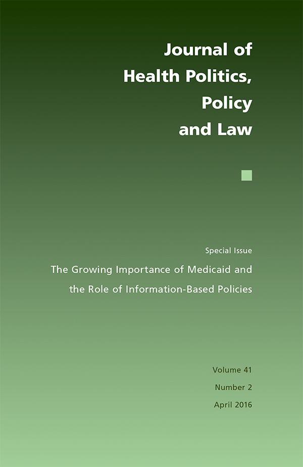 journal of health politics  policy and law