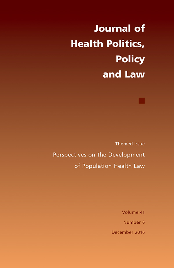 Themed issue: Perspectives on the Development of Population Health Law