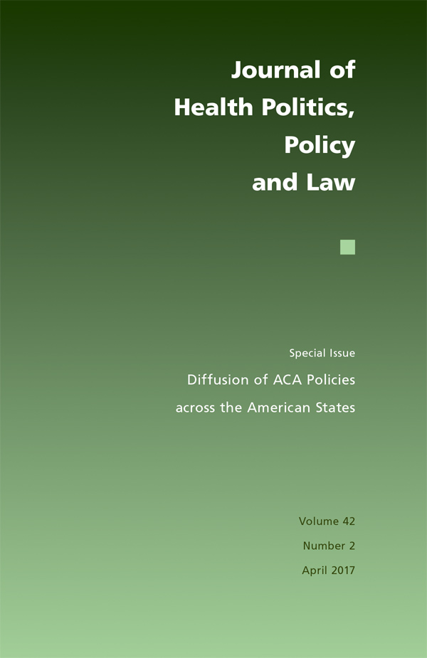 Diffusion of ACA Policies across the American States422