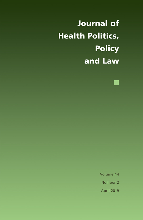 Journal of Health Politics, Policy and Law 44:2