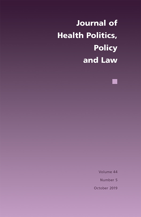 Journal of Health Politics, Policy and Law 44:5445