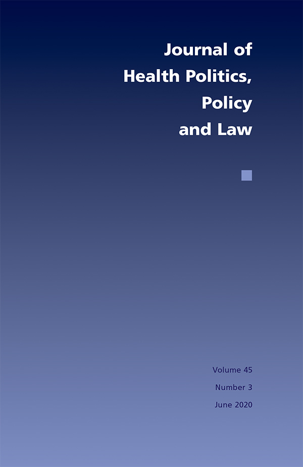 Journal of Health Politics, Policy and Law 45:3