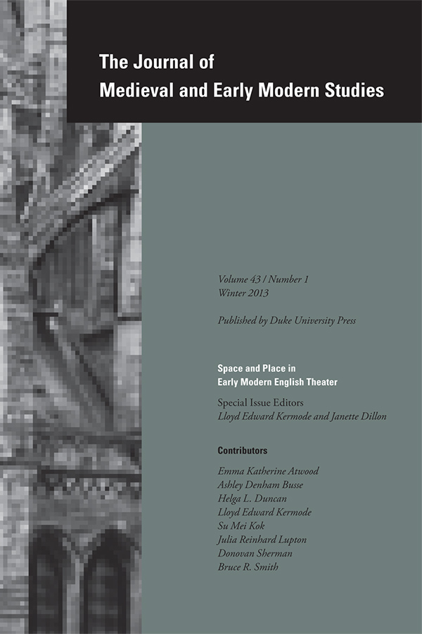 Space and Place in Early Modern English Theater