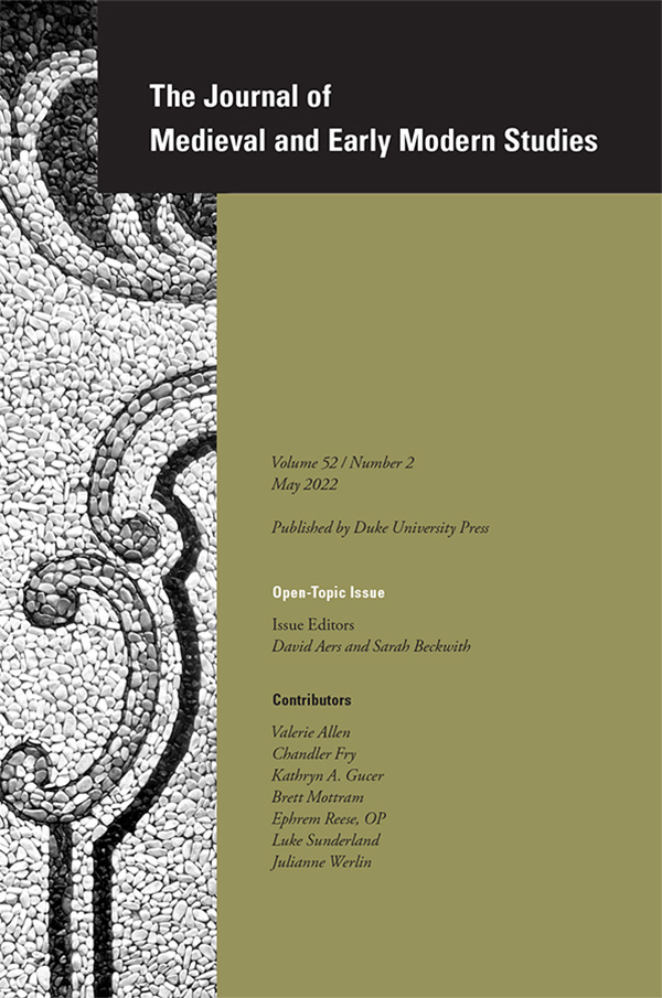 Journal of Medieval and Early Modern Studies