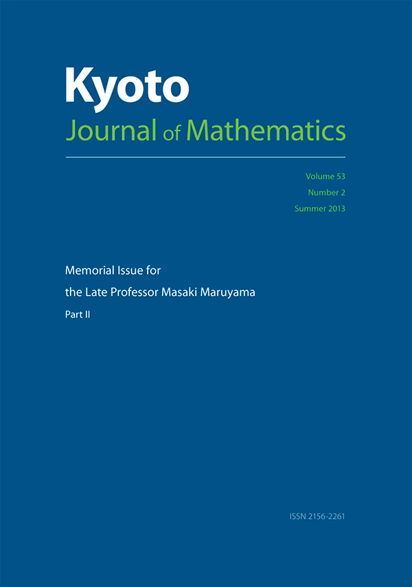 Memorial Issue for the Late Professor Masaki Maruyama, Part 2