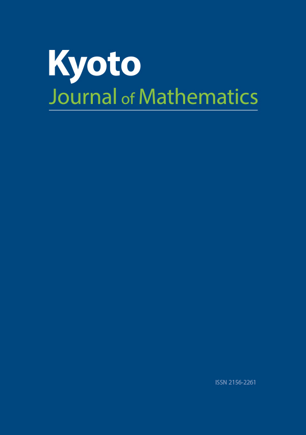Kyoto Journal of Mathematics