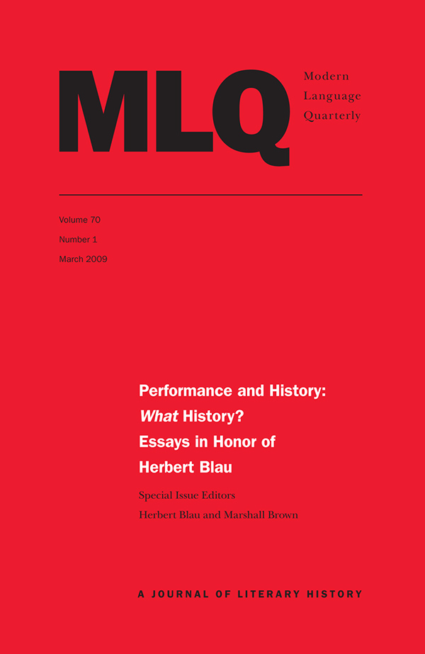 Performance and History: What History?701