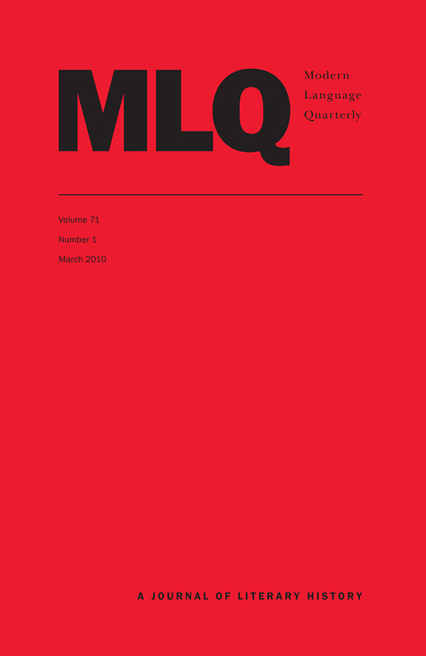 Modern Language Quarterly 71:1711