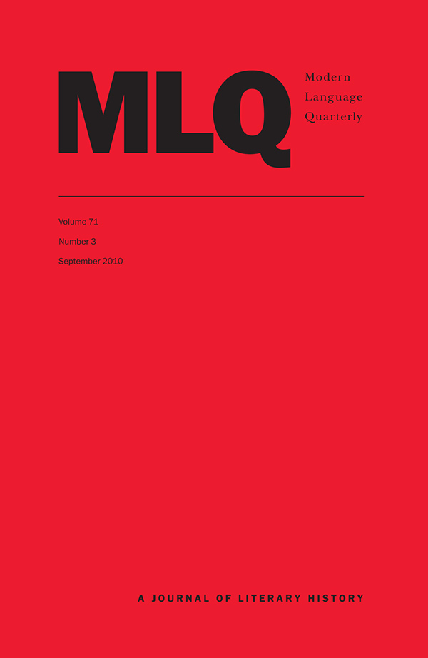 Modern Language Quarterly 71:3713