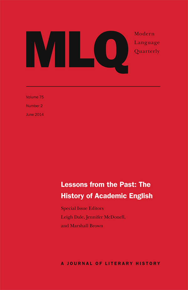 Lessons from the Past: The History of Academic English