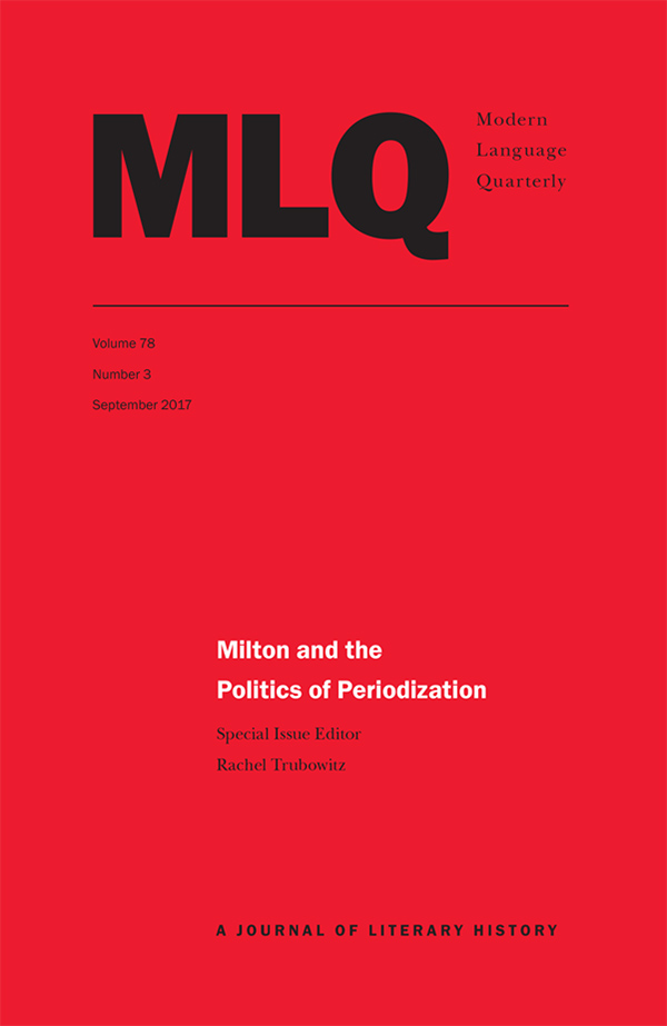 Milton and the Politics of Periodization