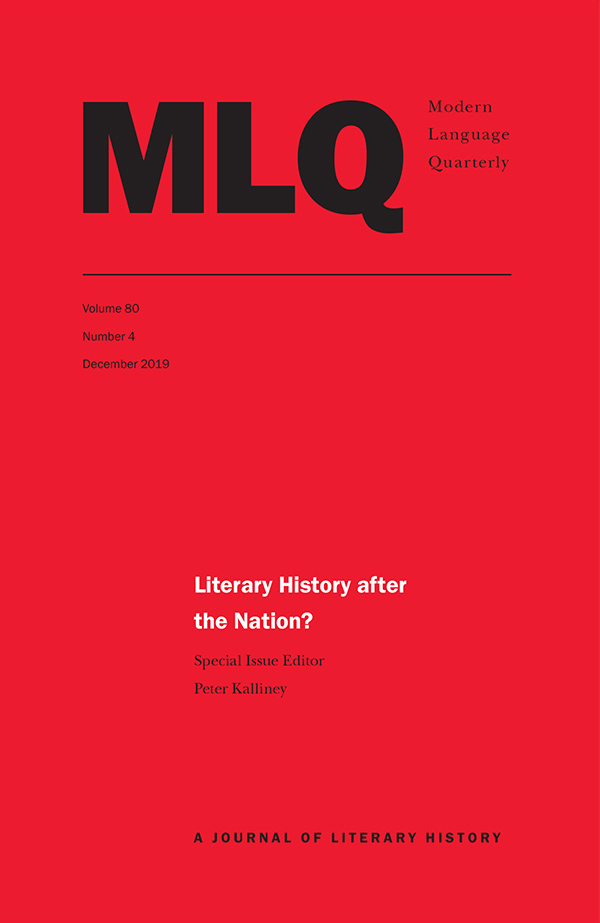 Literary History after the Nation?804