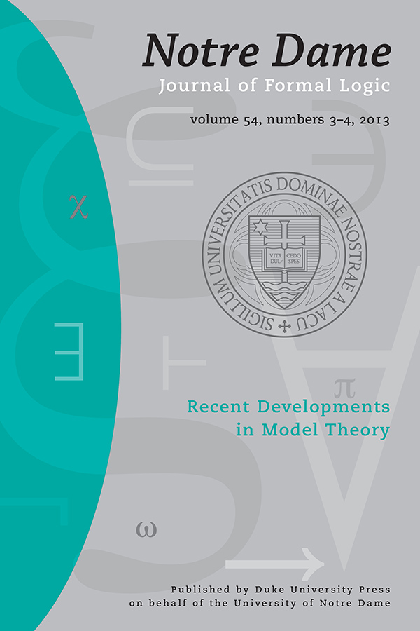 Recent Developments in Model Theory543-4